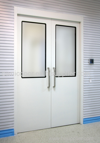 Automatic swing door for hospital bedwards and corridor