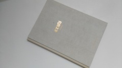 Linen texture cover casebound laser engraving hardback book printing