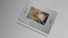 Publisher supplies gloss coating cover casebound clothes fashion magazine