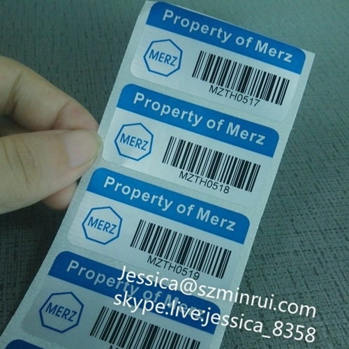 Professional design metal waterproof barcode label sticker promotional sticker printing barcode sticker label