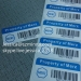 Professional Design Metal Waterproof Barcode Label Sticker Promotional Sticker Printing Barcode Sticker Label