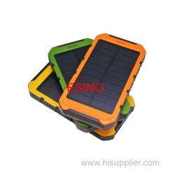 Portable solar power bank dual usb outport power battery suitable for phones/PSP/mp3/4/5
