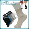 OEM service solid color school socks cotton uniform student socks