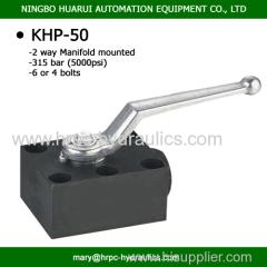 PKH-50 315Bar DN50 2-way ball valve for manifold mounting