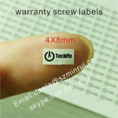 Small tamper evident seal for screw stickers