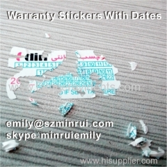 Warranty Void If Removed or Damaged Seal Stickers