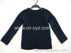 Women's Navy Blue Crew Neck Sweaters
