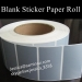 Silver Blank Strong Label Sticker in Roll Silver Color Ultra Destructible Vinyl Material Different Shape Size