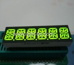 6 digit 14 segment; 6 digit led display; 6 digit 14-segment led display