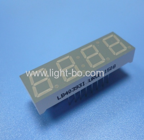 4 digit 0.39  c ommon anode ultra red 7 segment led clock display for instrument panel