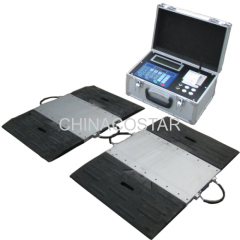 Wireless portable axel wheel weighing scale