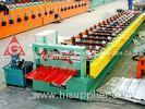 Color Plate / Galvanized Sheet Roof Panel Roll Forming Machine 0.4mm - 0.8mm
