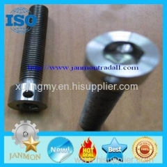 Bolt with hole Bolt with Hole in Head Hex head bolts with holes Hex bolts with holes on head High tensile bolts