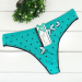 dotted laced cotton thong with bow Underpants g-string sexy lady panties women underwear t-back hot lingerie intimate