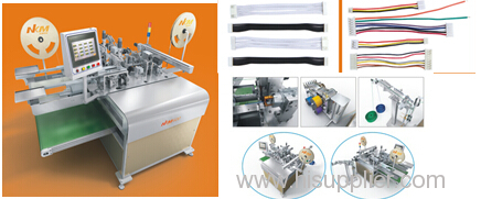 Auomatic Two Ends Terminal Crimping Connector Inserting Machine