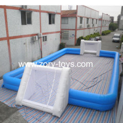 inflatable sports game football field