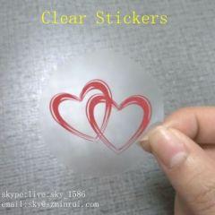 Round Custom Transparent Label