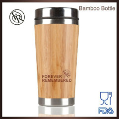 Green product FDA standard eco friendly bamboo sport tumbler with liner stainless steel