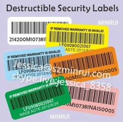 Custom Barcode Label Sticker Printing Anti-theft Barcode Label Sticker Private Security Stickers in Roll