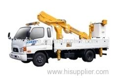 Donghae Aerial working platform truck mounted crane telescopic boom crane bucket