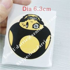 Custom Eco-friendly Excellent Quality Ultra DestructibleVinyl Eggshell Graffity Stickers Printing