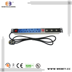 UK PDU socket outlet with USB port