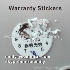 Custom Round Black Printed Warranty Screw Adhesive Label