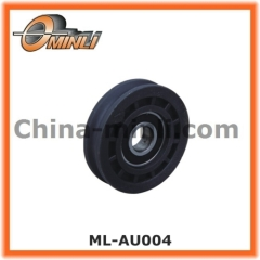 Elevator door fittings pulley coated with plastic nylon
