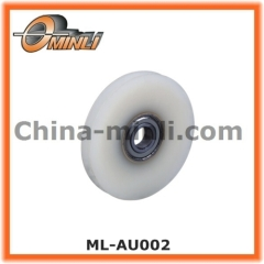 Plastic wheel roller for elevator door