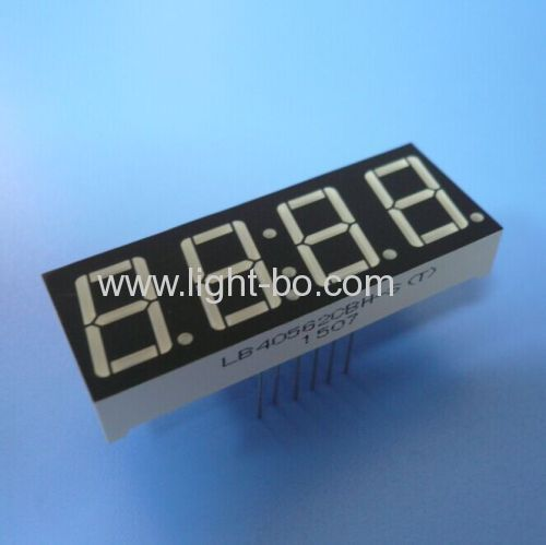 Ultra bright bue 0.56-inch 4-digit 7 segment led clock display for home appliances
