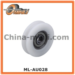 U Groove Nylon Bearing Plastic Pulley for Sliding Window