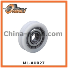 U Groove Nylon Bearing Plastic Pulley for Furniture
