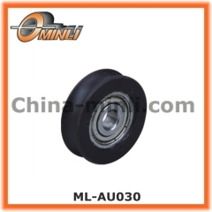 U Groove Nylon Bearing Plastic Pulley for Sliding Door