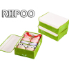 Riipoo Cover on Oxford Storage Box With amazing compression effect one set 3 piece Bra Socks Finishing Box Water proof
