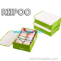 Riipoo 커버 옥스포드 스토리지 박스 놀라운 압축 효과 한 세트 3 피스 브래지어 양말 마무리 상자 방수