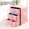 Riipoo Environmental Protection High Quality Embossing Abdominal Cloth Three Drawer Underwear Boxes Bra Socks