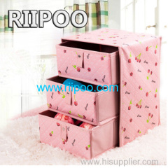 Riipoo Environmental Protection High Quality Embossing Abdominale Doek Drie Drawer Ondergoed Boxes Bra Sokken