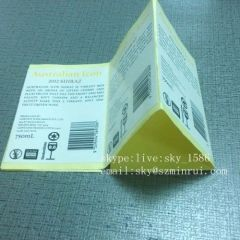 Minrui Permanent Self Adhesive Bottle Labels Printing Wine Sticker Paper