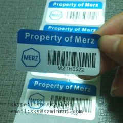 Silver Rectangle Custom Printing PET Vinyl Labels Waterproof Barcode Self Adhesive Labels