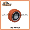 Saffron Plastic Pulley with solid axle Bearing