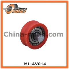 Window and door Roller with solid axle