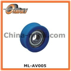 Metal Bearing wheel with Nylon Coating