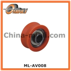 Metal Bearing wheel with Plastic Coat