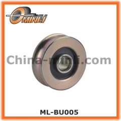 U groove metal outer ring pulley roller