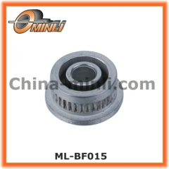 Flange timing belt conveyor pulleys