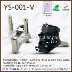 germany plug insert VDE plug flat plug cee7 7 europlug