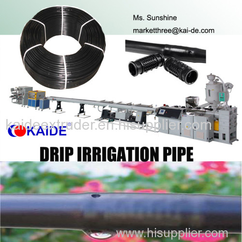 Pipe Making machine for drip irrigation pipe with round dripper inside 80m/min