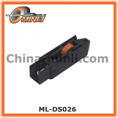 Adjustable sliding caster wheel for window and door