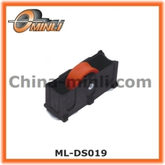 Plastic Bracket Pulley with Single Nylon Roller