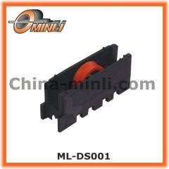 Plastic bracket sliding nylon roller